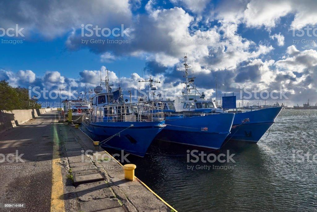 Fishing boat on the Baltic Sea, Poland , Wladyslawowo stock photo