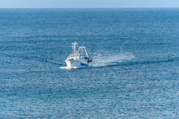 Fishing Boat on the Mediterranean Sea - foto stock