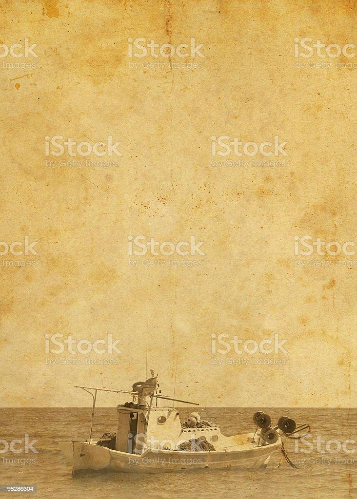 Barca da pesca in mare foto stock royalty-free