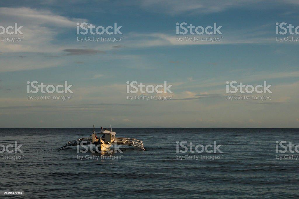 Fishing boat, Philippines stock photo
