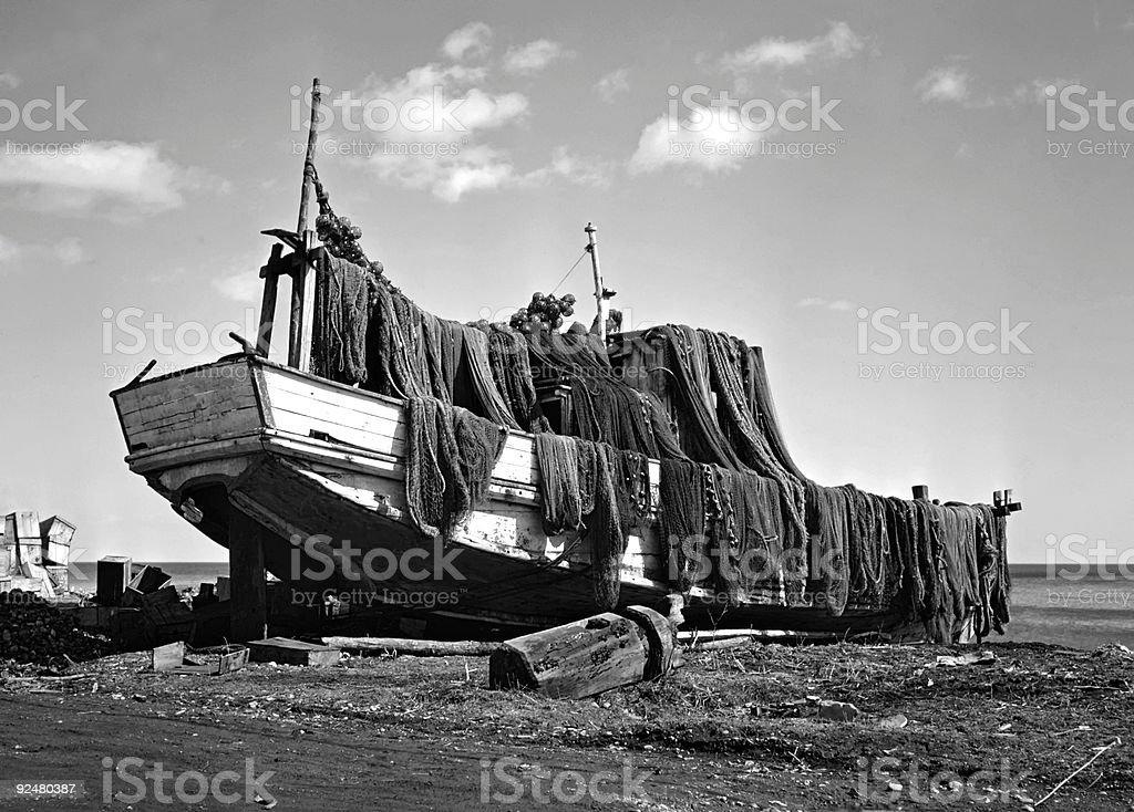 Fishing boat. royalty-free stock photo