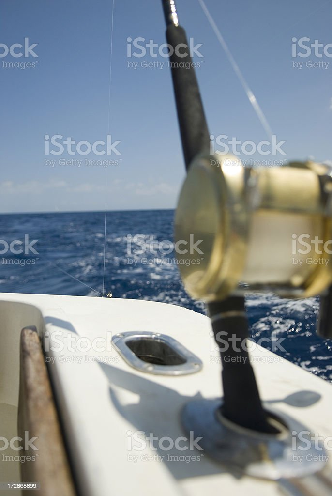 Fishing boat rear view royalty-free stock photo