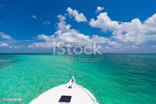 Fishing boat sandbar at the Florida Keys