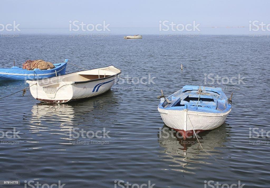 Fishing Boats at Houmt Souk Harbor royalty-free stock photo