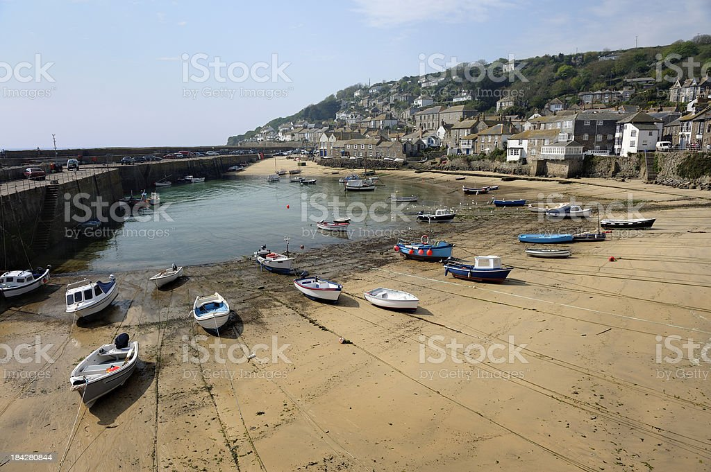 Fishing Boats At Low Tide stock photo