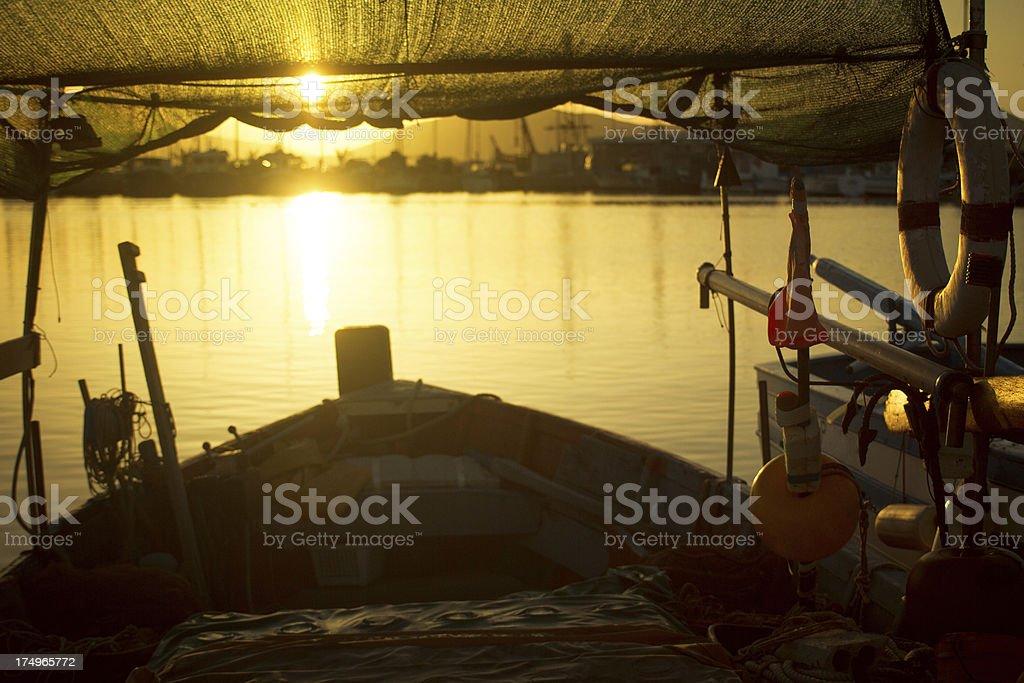 Fishing boats at the Harbor of Alghero, Sardinia royalty-free stock photo
