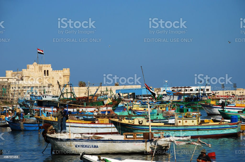 Fishing Boats At The Port Of Alexandria Egypt Stock Photo Download Image Now Istock