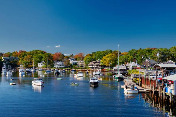 Fischerboote in Perkins Cove, Maine, USA – Foto
