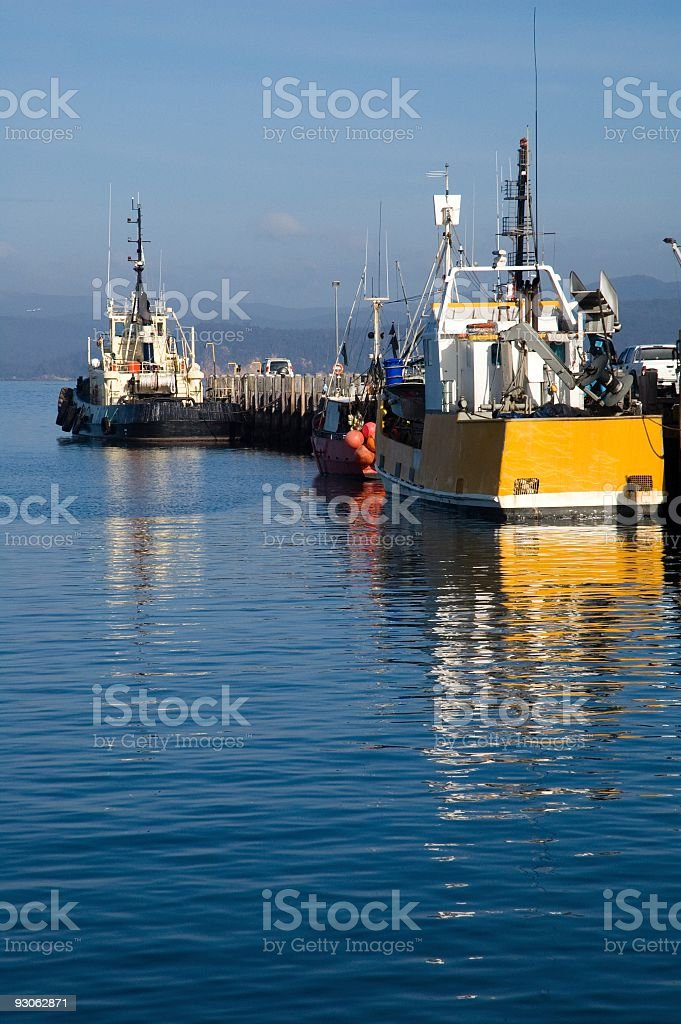 Fishing Boats, Eden, New South Wales royalty-free stock photo