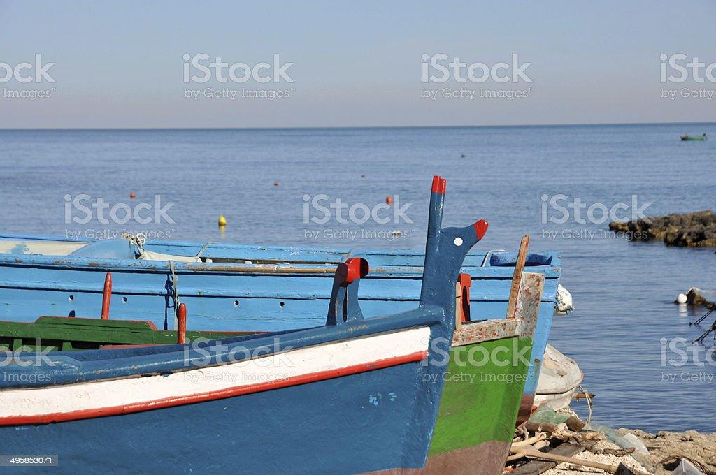Fishing Boats in a Little port of Polignano a mare, Apulia