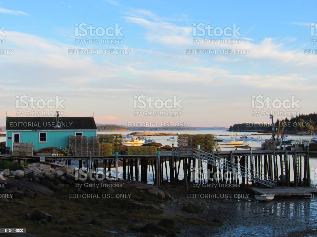 Fishing Boats in a Maine, USA, Harbor - foto stock
