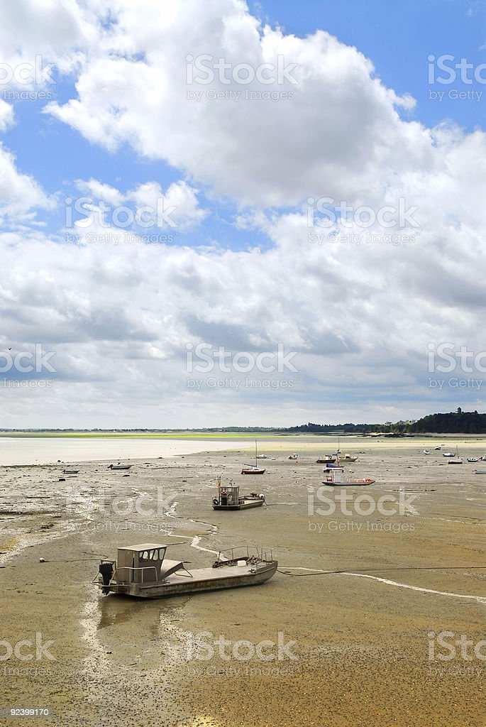 Fishing boats in Cancale, France royalty-free stock photo