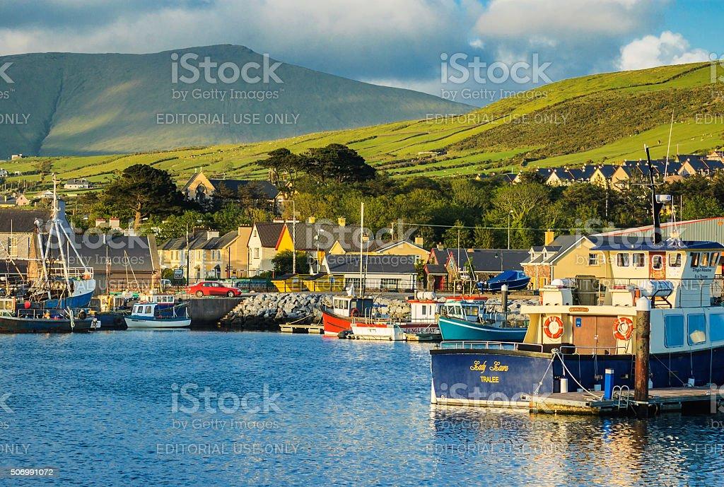 Fishing Boats in Dingle Bay stock photo