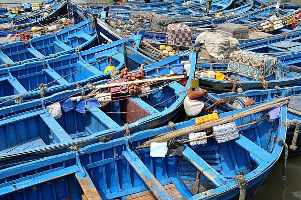 Barcos de pesca en Essaouira - foto de stock