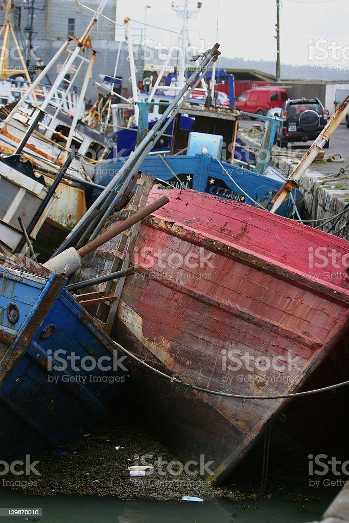 Fishing Boats In Ireland royalty-free stock photo