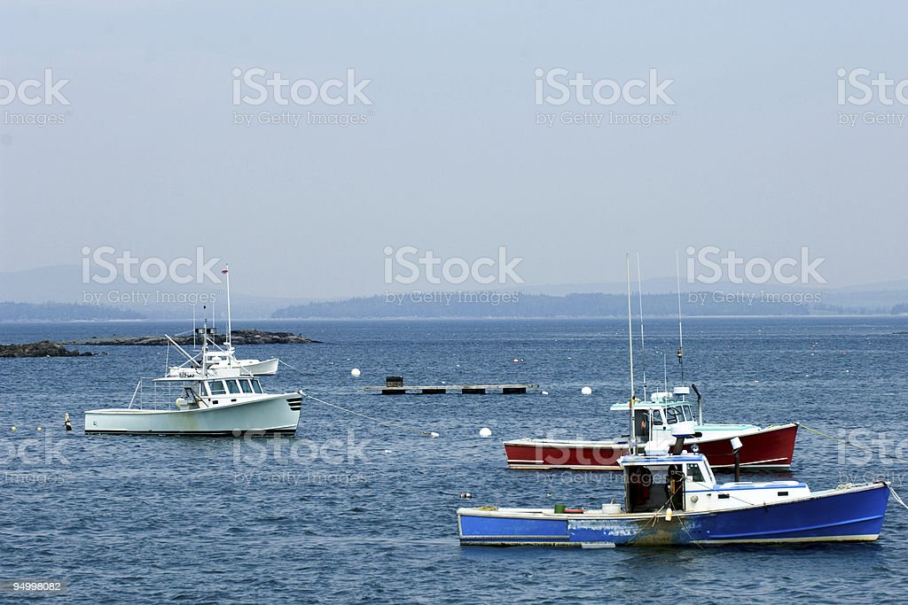 Fishing boats in Maine royalty-free stock photo