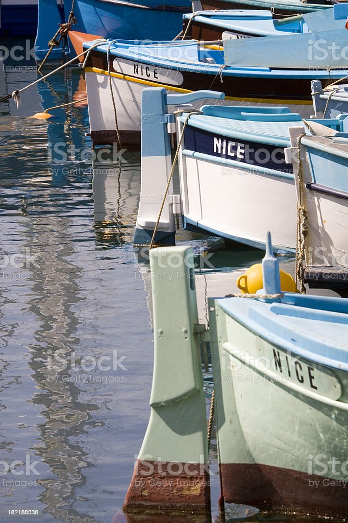 Fishing Boats in Nice royalty-free stock photo
