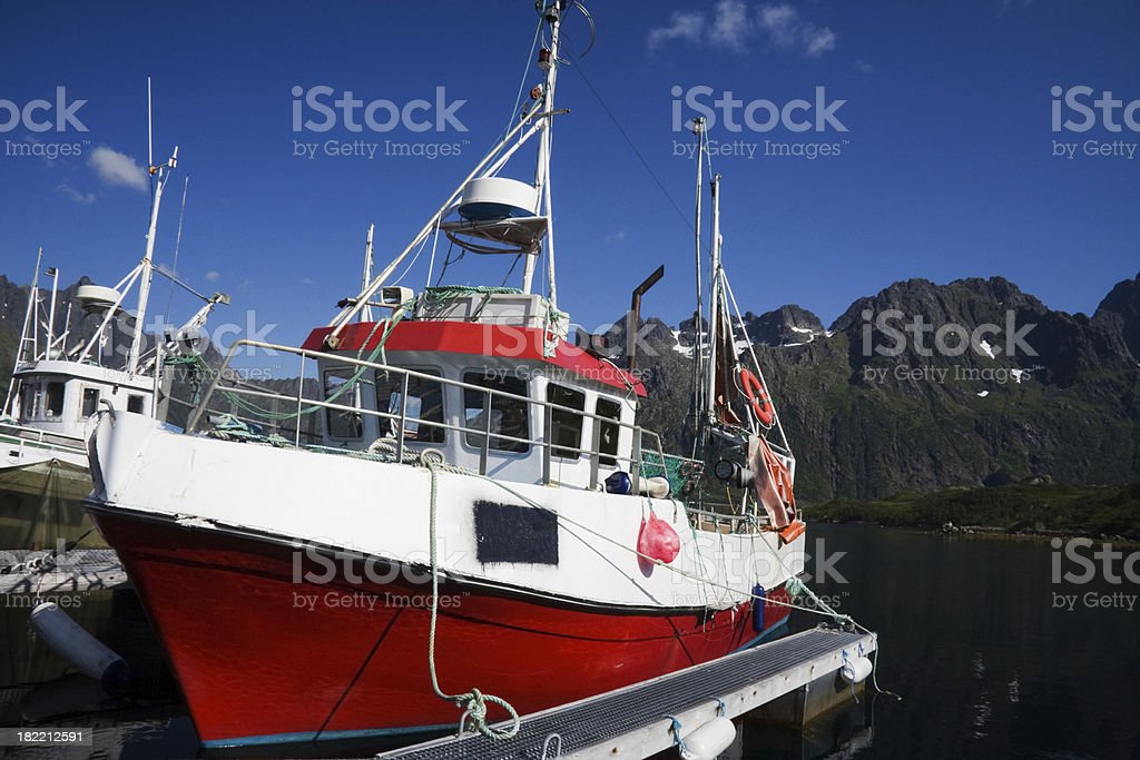 Fishing boats in Norway royalty-free stock photo