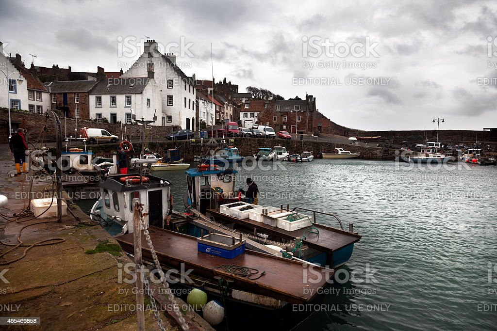 Fishing Boats in Scotland stock photo