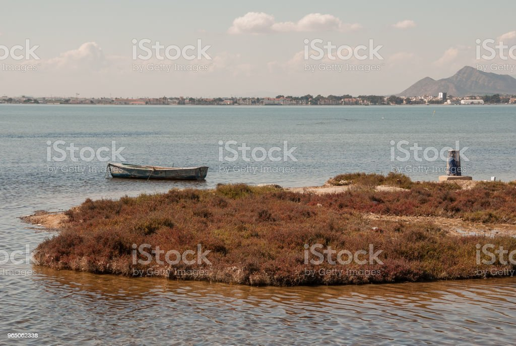 Fishing boats in the Mar Menor of Murcia. Spain royalty-free stock photo