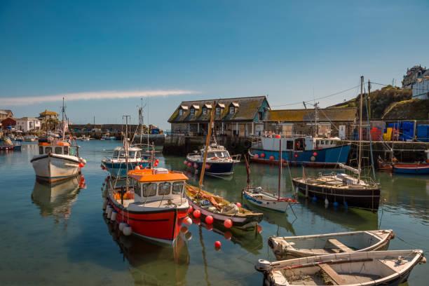 Fischerboote im Hafen von Mevagissey – Foto