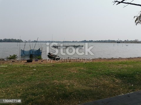 Fishing boats mooring along the coast