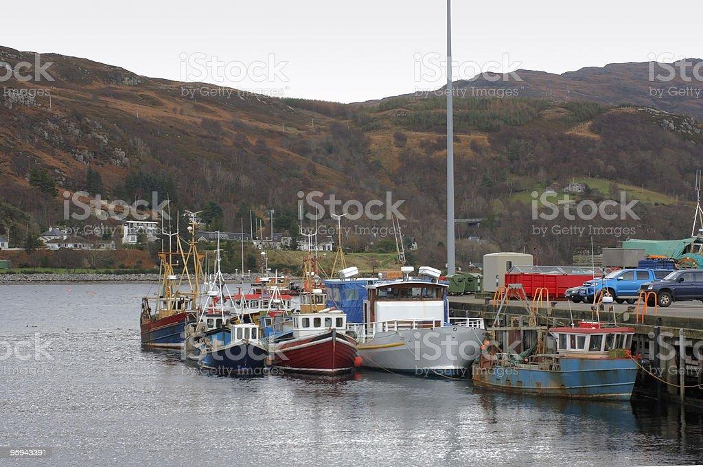 fishing boats near Ullapool royalty-free stock photo