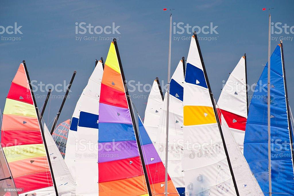 Fishing boats on madeira stock photo