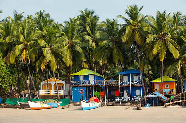 Fishing boats on Palolem Beach Goa India