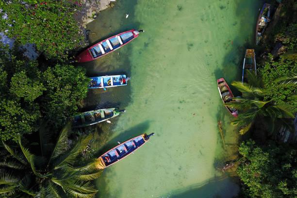 Fischerboote am White River, Ocho Rios, Jamaika – Foto