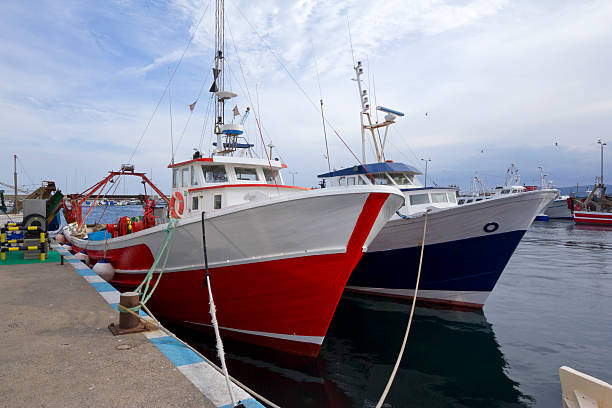 Barcos de pesca - foto de stock