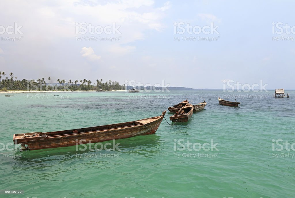 Fishing boats royalty-free stock photo