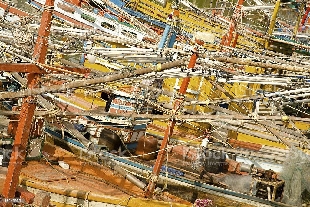 Barcos de pesca foto de stock libre de derechos