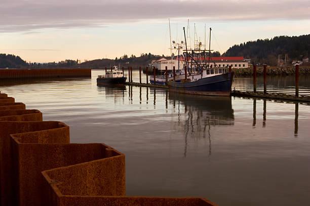 Fischerboote, Sonnenuntergang – Foto