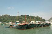 Tai O fishing boats team