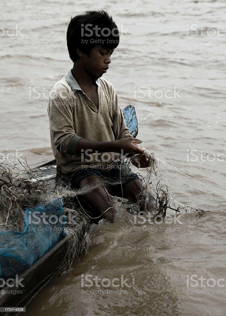 Fishing Boy royalty-free stock photo