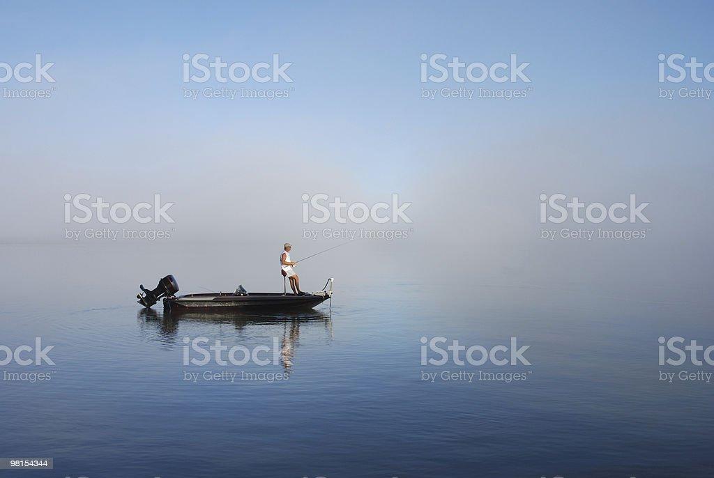Pesca dalla barca nella East Bay Florida foto stock royalty-free