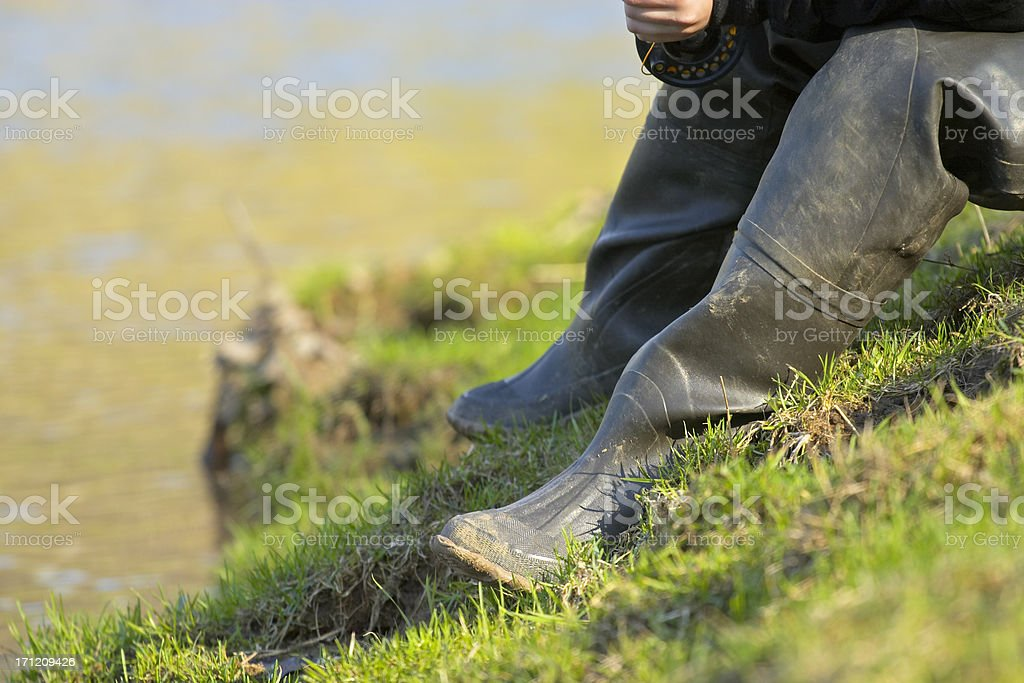 Fishing C stock photo