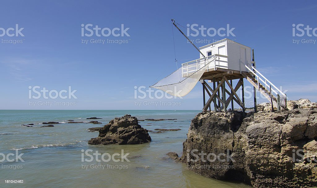 Fishing cabin stock photo