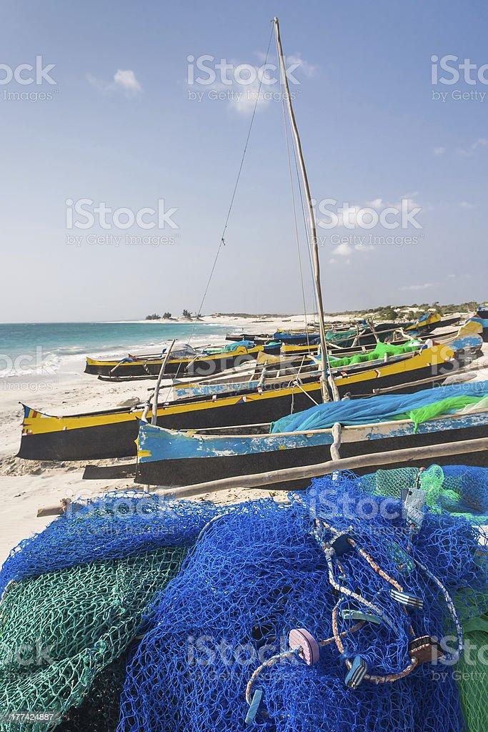 Fishing canoes royalty-free stock photo