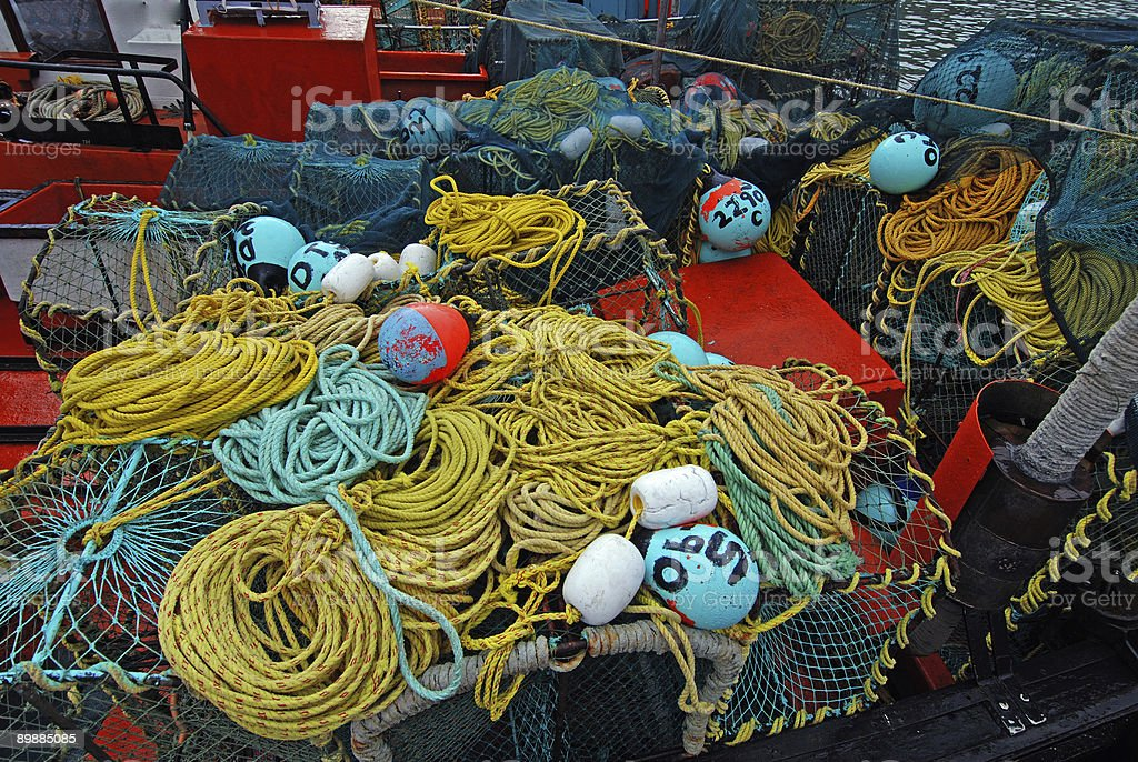 Fishing clutter royalty-free stock photo