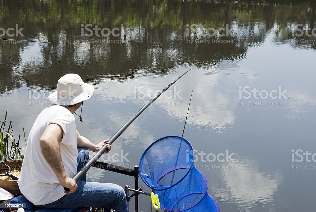 Fishing competition stock photo