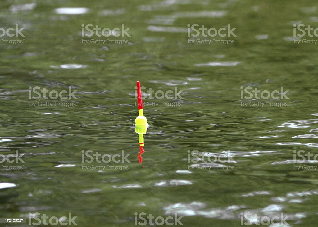 Fishing Cork in Lake royalty-free stock photo