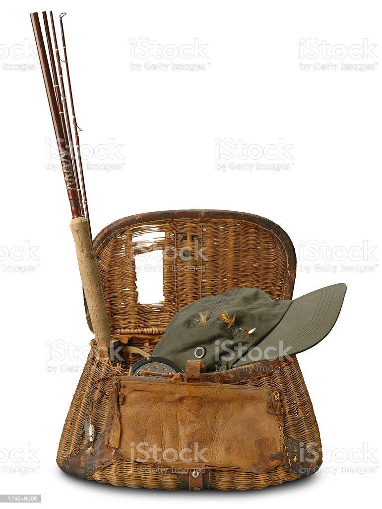 Fishing Creel royalty-free stock photo