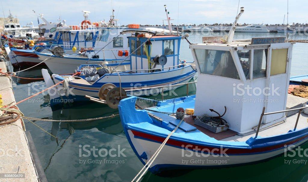 fishing cutter at Ierapetra, Crete stock photo