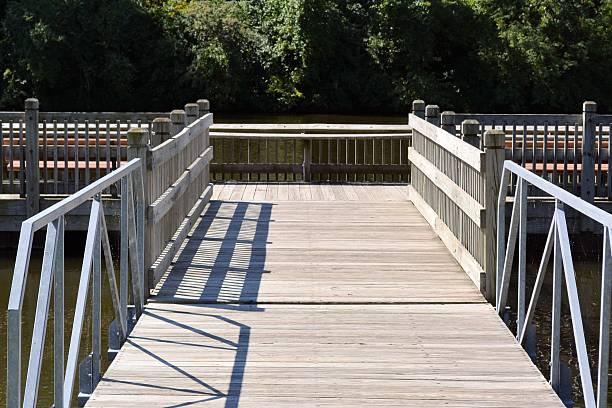 Fishing Dock Entrance stock photo