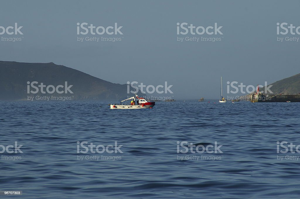 Fishing - early morning stock photo
