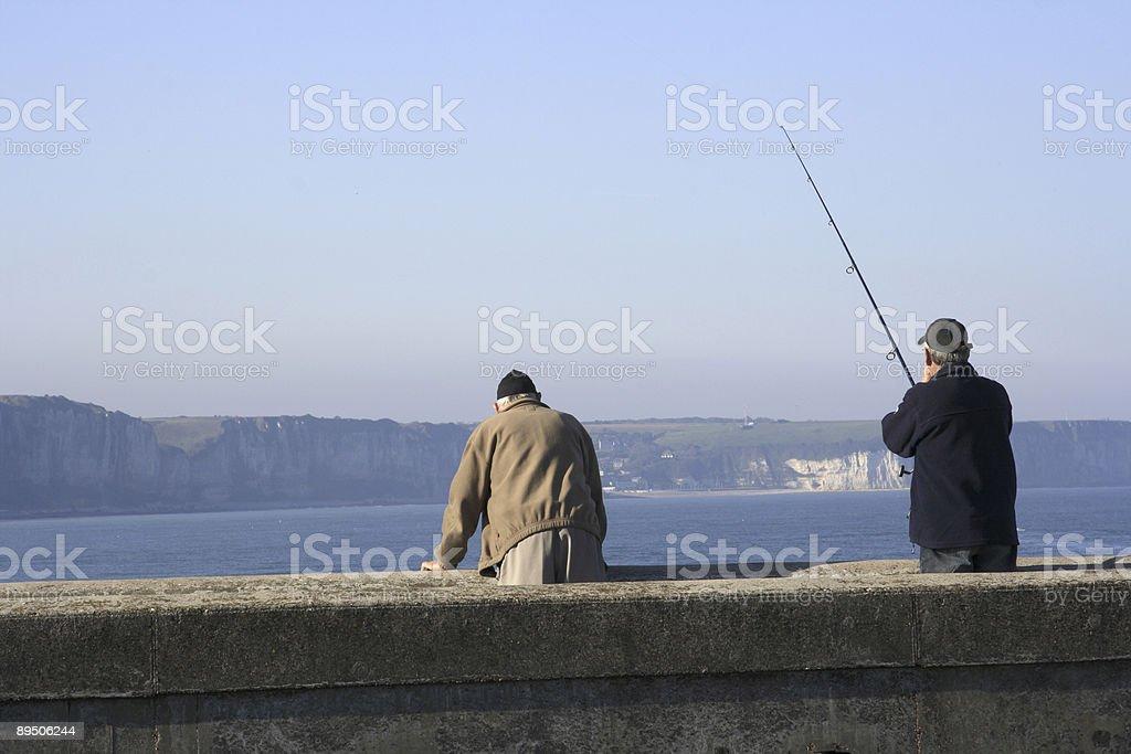 Fishing Fecamp France royalty-free stock photo