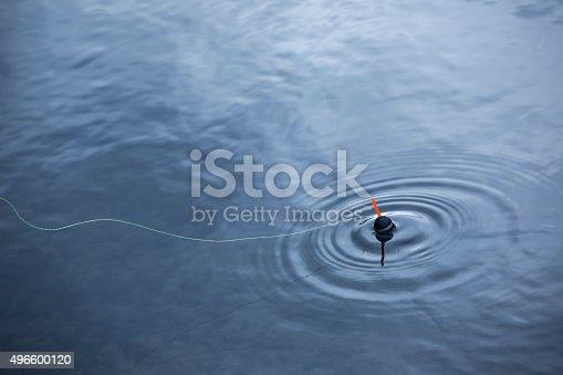 Fishing float oscillates.
