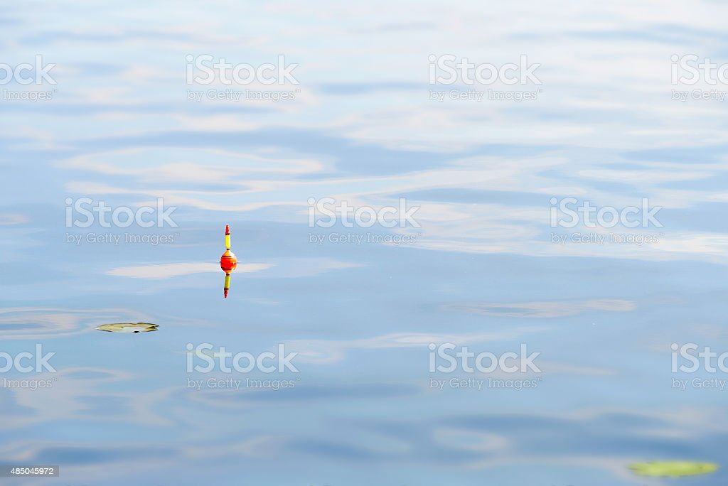 Fishing Floats in Blue Water stock photo